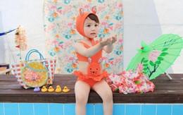 Wholesale 2014 summer Girl s cute bunny SwimSuit cartoon Swim Wear One Piece Swim Bodysuit Swimsuit sunscreen Swimwear