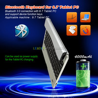 Wholesale High Quality quot Bluetooth Wireless Keyboard power bank for iPAD