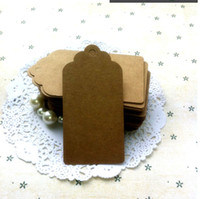 blank cards - GSM Scallop Kraft Blank Hang tag x9cm Retro Gift tag Table Number cards High Quality Kraft Tag