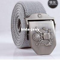 Wholesale men cotton belt western fabric belt men women webbing canvas belt