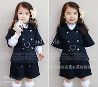 Wholesale Autumn Children Clothes preppy style Kids garment Girl Clothing Shirt coat shorts Children s Outfits