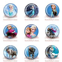 Wholesale High Quality New Arrival Frozen cartoon buttons badge cm mm set Cartoon button pin badge brooch badge gift kids collection