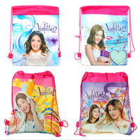 Wholesale 12pcs Hot New Children Backpacks Violetta Printed School Bags For Girl Non woven backpack for girls beach bags