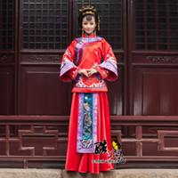 Wholesale 2014 High Collar Vintage Traditional Chinese Wedding Dress Red Cheongsam Long Sleeve High Quality From Wendy