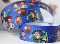 Wholesale printed grosgrain ribbons packing DIY cartoon polyester grosgrain ribbon DIY hairbow material Toy Story
