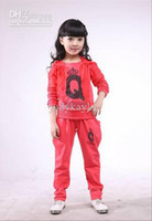 Girl clothing store - Children Clothing Store Girl Children s leisure Sports Clothing Set suit Kids Q Cartoon Suit