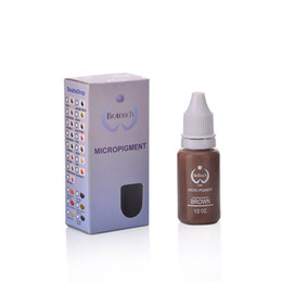 Wholesale 1pcs Original Biotouch Micropigment Brown Color Permanent makeup Tattoo Micropigment Never Change Color