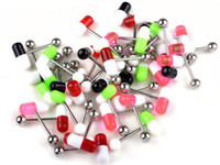 Tongue Rings Stainless Steel Halloween Wholesale Pill Piercing Tongue Ring 100pcs lot Body Piecering Jewelry Free Shipping[BA24*100]