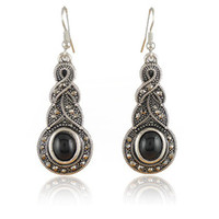 Wholesale New Vintage Earrings Costume Jewellery Tibetan Silver With Synthetic Gemstone Earring