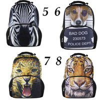 Wholesale 50pcs outdoor travel bagckpack Hiking bag L leisure ravel bags D modeling backpack style animals EMS free shpping