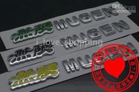 Wholesale MUGEN Hi Q Car Badge CAR EMBLEM Chrome Badges M glue sticker X2 CM