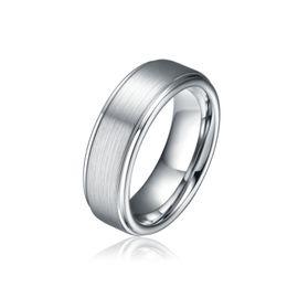 Wholesale Wholesales MM Tungsten Carbide Ring Men s Jewelry Engagement Band Brushed Satin Matte Titanium Color New Size TU041R