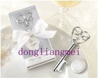 Wholesale 100pc wedding party Supplies Key to my Heart Bottle opener Wedding favors and gifts Z47