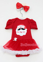 Christmas girl set Baby Romper Jumpsuit Rompers With Bowknot...