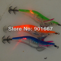 Wholesale 2013 fishing lures LED squid jig fishing tackle flash fishing bait cm With retail box