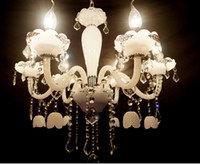 Wholesale European candle chandelier crystal chandelier crystal lamp jade living room lamp bedroom lamp lights restaurant