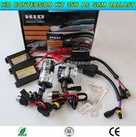 Wholesale HID Xenon Conversion Kit Dual Beam Kit H4 H13 Lo beam HID Hi beam Halogen V W AC Slim Ballast