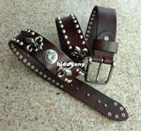 Wholesale Genuine Leather Men Vintage Belts Cowhide Retro Rivet Long Belt For Man Punk Straps Designer Casual Jeans Dresses Cintos TBT0092