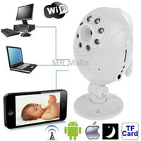 Digital ip camera  Wifi Point-to-point with Infrared Night Vision Light Record Monitoring for iOS and Android 2.3 above and Computer (White)