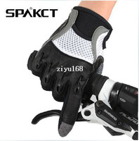 Wholesale 2014 SPAKCT Spring amp Autumn Non Slip Gel MTB BMX Motorcycle Full Finger Cycling Bicycle Gloves Nuclear Fusion Size M XL