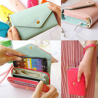 Wholesale Hot fashion multifunction Women wallet Wallets Coin Case Purse For iphone Galaxy iphone SV000194