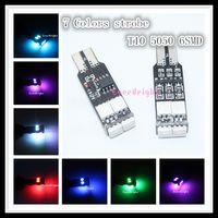 Wholesale 100pcs V DC New W5W SMD Colors Patterns T10 Strobe LED Turn Signal Light Lamp