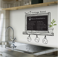 Plastic chalk a-board - Promotions New Arrive Chalkboard Decal Blackboard Removable waterproof Vinyl Wall Sticker Kitchen Chalk Board a