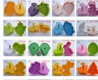 Plastic assorted cookie cutters - 4Pcs Set Assorted Type D cookie cutter cookie mold Vegetable mould biscuit mold cake cutter mould