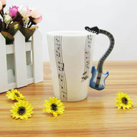 Bone China bone china - New Arrivals ml Guitar Holds Ceramic Mug Coffee Mugs Tea Mug Gift Box Package RY1402