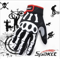 Wholesale full finger ghost hand motorcycle Bicycle bike Cycling GEL outdoor gloves