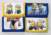 Wholesale Hot sale new Minion Despicable Me Kids Wallet Velcro Zip Coin Purse Minions Pixar Hero