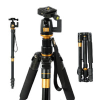 Wholesale Updated Q Portable in Aluminium Tripod Monopod Kit Loading KG Ball Head Bag Q555 For Camera SLR Canon Nikon Travel Photography