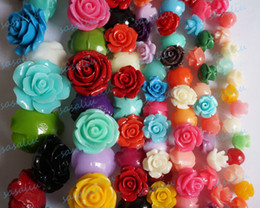 Wholesale Coral Flower Camellia Rose Gemstone Loose Fit Bracelets Necklaces DIY Semi finished Coral Beads Mixed Colors MM