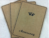 Tags, Price Tags,Card jewelry display set - Brown Paper Crown Custom Jewelry Earring Necklace Packaging Jewelry Setting Display Cards For
