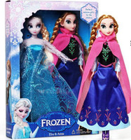 baby dolls - 1404z Retail frozen princesses doll new cute Anna Elsa inch baby doll action figures frozen dolls toys set