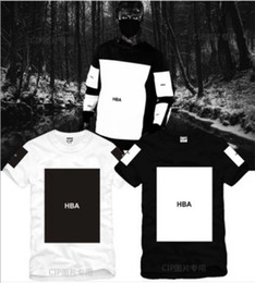 Wholesale Chinese Size S XL summer t shirt Hood By Air HBA X Been Trill Kanye blank print Hba tee men tshirts color cotton