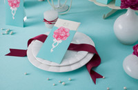 Wholesale New Charming Flowers Luxury royal wedding cards personalized invitations Prom invitations Card CW011