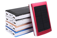Wholesale Solar Powered mAh Dual USB Power Bank Battery Charger For Phone Travel Use