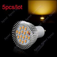 Wholesale 5pcs GU10 SMD LED Warm White High Power Spot Light Lamp Bulbs V V W TK0627