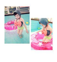 Wholesale HOT NEW Cute Butterfly Knot children s Bikini Kids Swimsuit Three parts Girls Swimming clothing