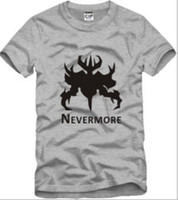 Wholesale Dota Never More Defense Ancients Logo Games Cosplay T Shirts Tee cotton Size S XL