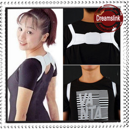 Wholesale 2014 New Adjustable Therapy Back Support Braces Belt Band Posture Shoulder Corrector for Women Fashion Health