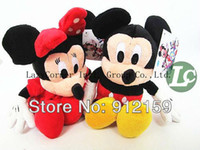 Wholesale High Quality Mickey amp Minnie Mouse plush Doll Toys Wedding Birthday gifts EMS