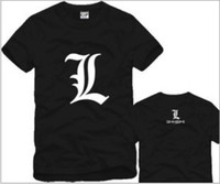 Wholesale T Shirts DEATH NOTE L Raito Light Yagami ANIME JAPANESE T SHIRT Color cotton Size S XL