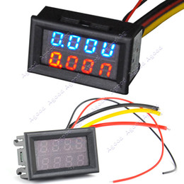 Wholesale DC V V A Dual LED Digital Voltmeter Ammeter Voltage AMP Power Meter R B TK1211