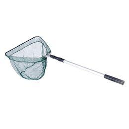 Wholesale New Triangular Brail Folding Fishing Net Telescopic Landing Nets Equipment Aluminum Section Extending Pole Handle H10345