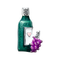glass wine bottle - 20pcs Origami Owl Wine Bottle Floating Charms For Glass Lockets