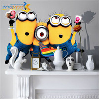 Wholesale 2014x New Design Despicable Me Minion Movie Decal Removable Wall Sticker Home Decor Art Kids Nursery Loving Gift
