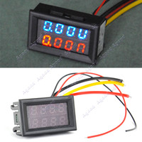 Wholesale DC V V A Dual LED Digital Voltmeter Ammeter Voltage AMP Power Meter R B TK1212