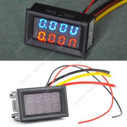 Wholesale DC V V A Dual LED Digital Voltmeter Ammeter Voltage AMP Power Meter R B TK1212